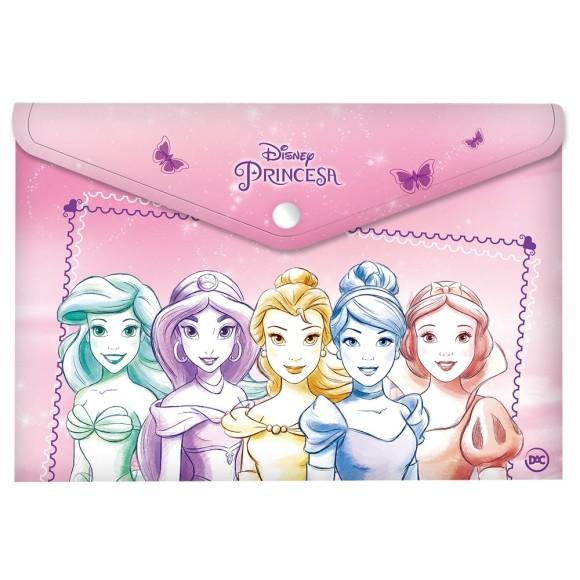 Malote Com Botão A4 Princesas - Dac