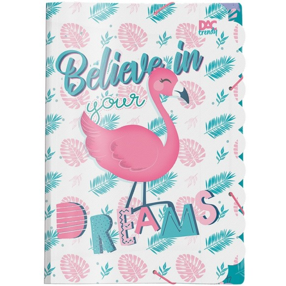Pasta Aba Elástica Ofício Trendy Flamingo - Dac