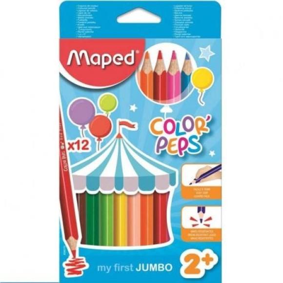 Lápis de Cor ColorPeps Jumbo 12 Cores - Maped