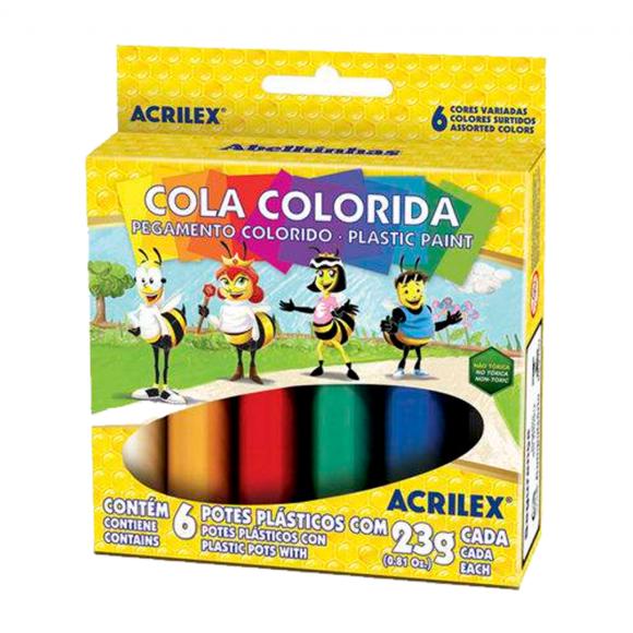 Cola Colorida 6 Cores - Acrilex