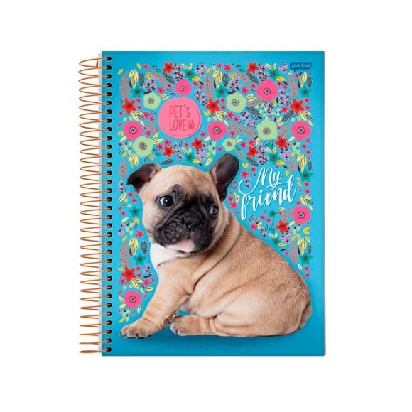 Caderno Espiral 1/4 96 Folhas Pet's Love - Jandaia