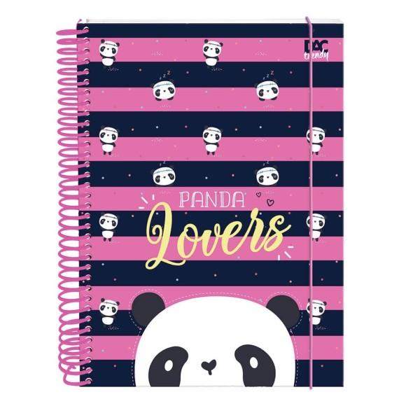 Caderno Universitário 10 Matérias 160 Folhas Trendy Panda - Dac