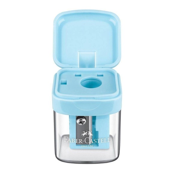 Apontador Com Depósito MiniBox Azul Pastel - Faber Castell