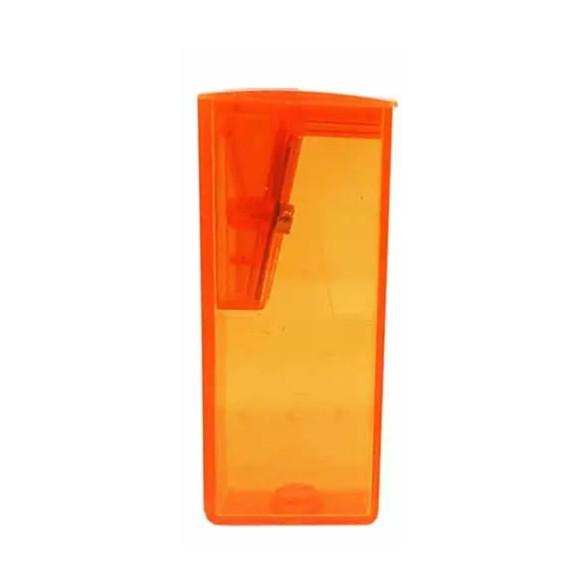 Apontador Com Depósito Laranja Neon - Faber Castell