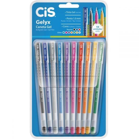 Caneta Gel Gelyx 10 Cores - Cis