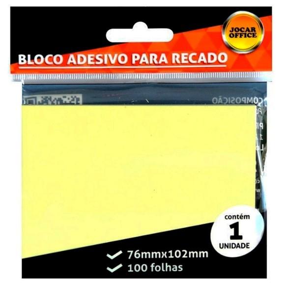 Bloco Adesivo Para Recado Amarelo - Jocar Office