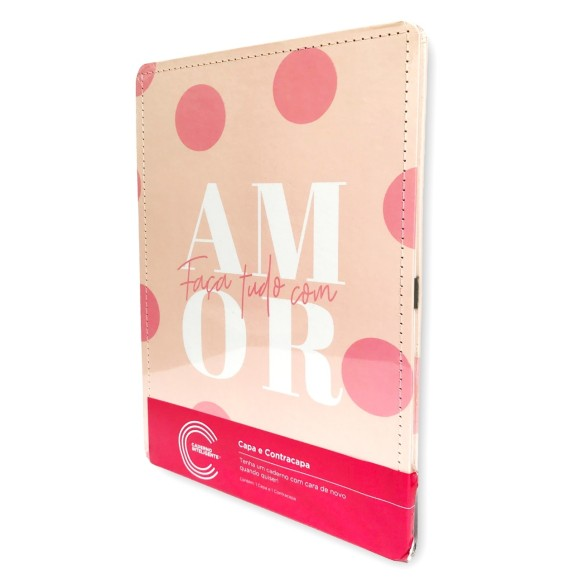 Capa e Contracapa Cor de Rosa A5 - Caderno Inteligente