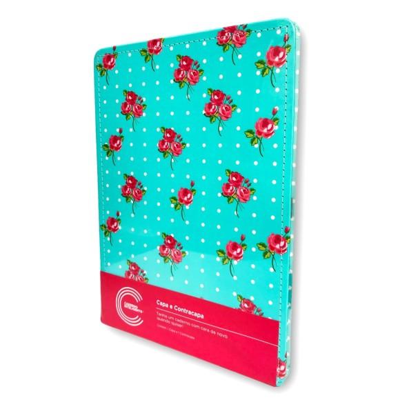 Capa e Contracapa Pink Floral Grande - Caderno Inteligente
