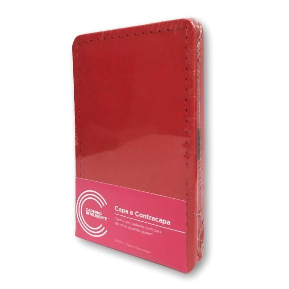 Capa e Contracapa Vermelho Cereja Inteligine - Caderno Inteligente