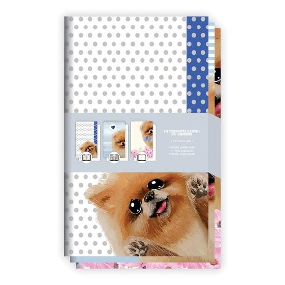 Kit Cadernetas Flexíveis Pet Cachorro - Redoma
