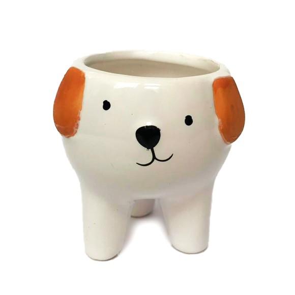 Cachepot Cachorro Porcelana - Bras Continental