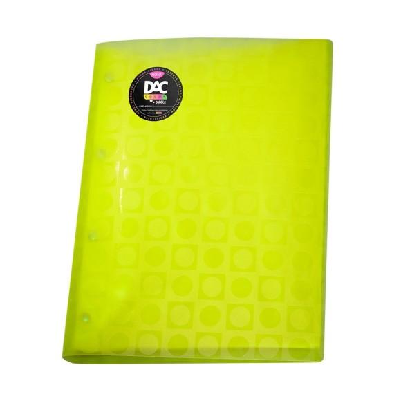 Pasta Catálogo Bubble Neon A4 Amarela - Dac