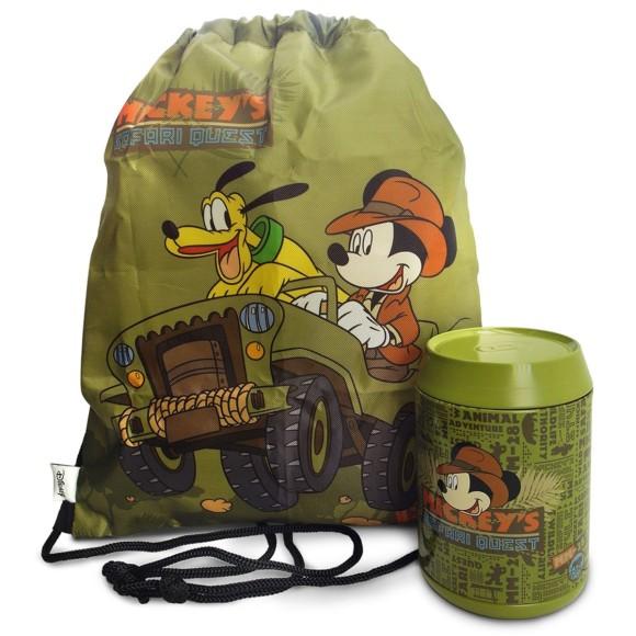 Porta Objetos Com Mochila Saco Mickey Safari - Taimes