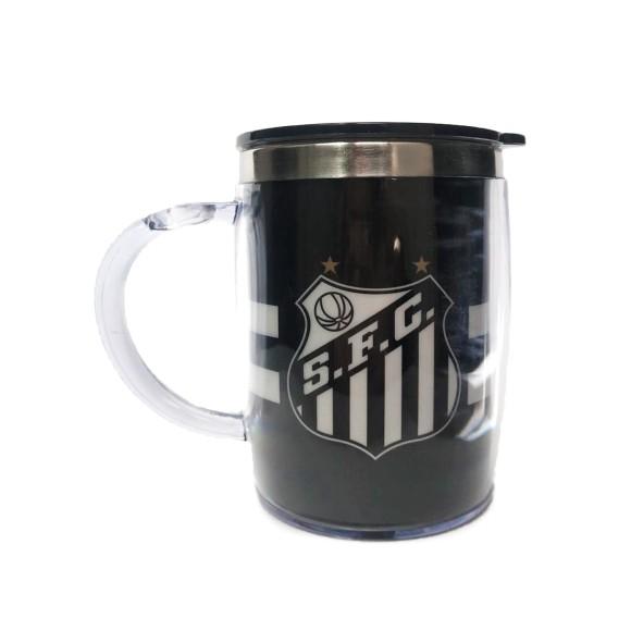 Caneca de Plástico Oficial Santos F.C. - Mileno