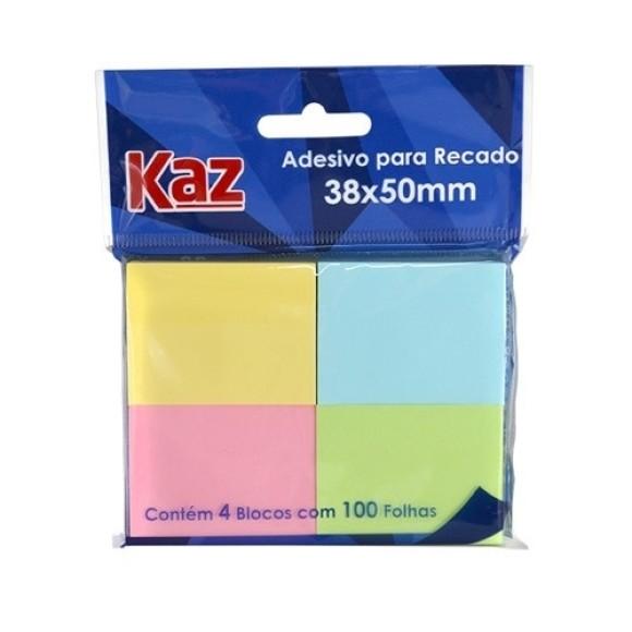 Adesivo Para Recado 4 Cores Pastéis - Kaz