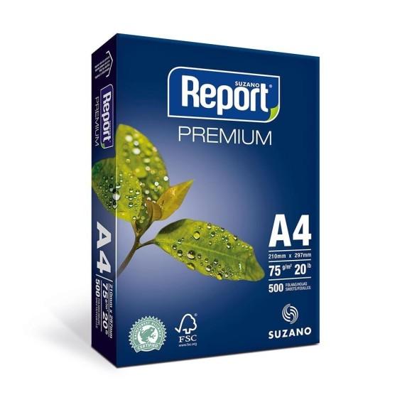 Papel Sulfite Premium A4 500 Folhas Branco - Report