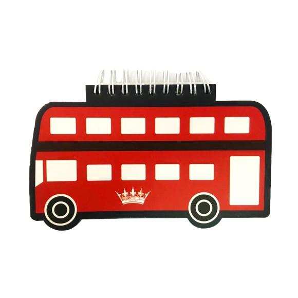 Bloco de Anotações Ônibus Londres - Carpe Diem