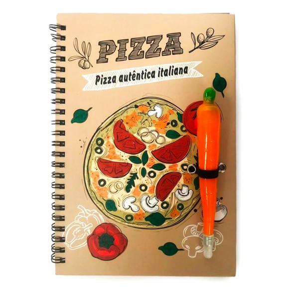 Caderno de Receitas Com Caneta Cenoura