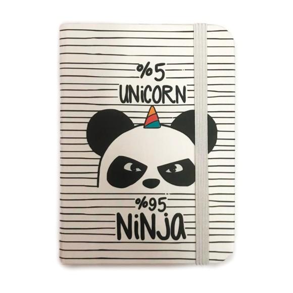 Mini Caderneta Panda Listrado - Golden Maya