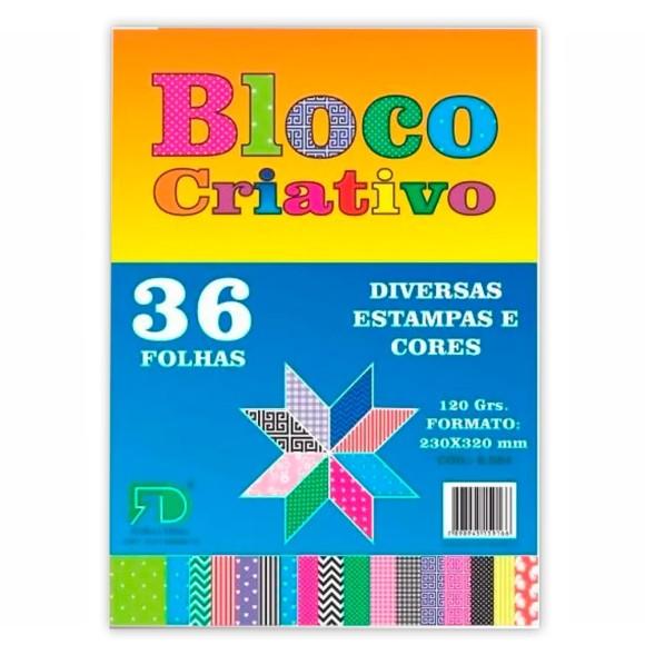 Bloco Criativo Estampado 120g 36 Folhas - Gráfica e Editora