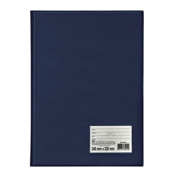 Pasta Catálogo Ofício 50 Envelopes Azul Marinho - Dac
