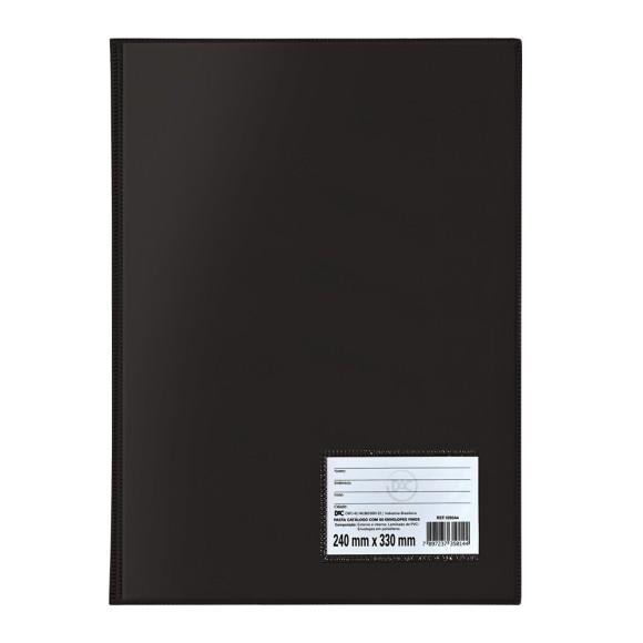 Pasta Catálogo Ofício Com 20 Envelopes Preto - Dac