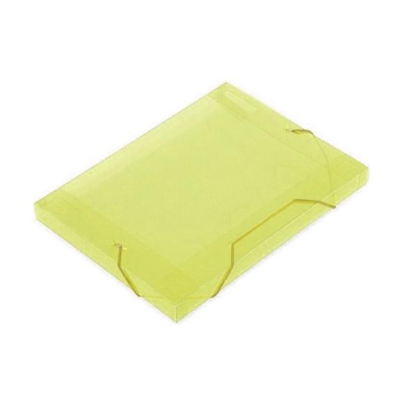 Pasta Aba 1/2 Mini Ofício Lombo 2,5cm Line Amarelo - Dello