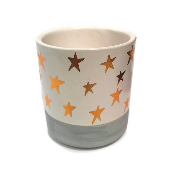 Cachepot Porcelana Estrelas - Bras Continental