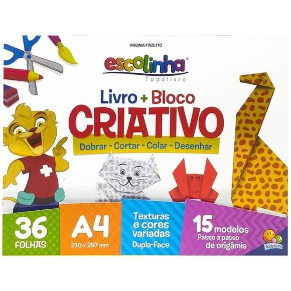 Livro + Bloco Criativo A4 90g 36 Folhas 15 Modelos - Escolinha TodoLivro