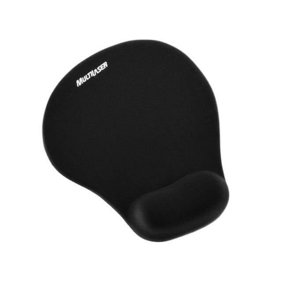 Mousepad Ergonômico Preto - Multilaser