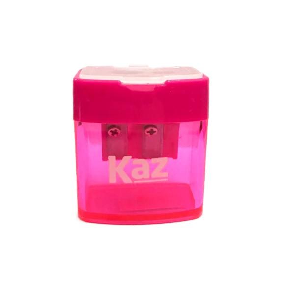 Apontador Coletor 2 Furos Zoo Rosa - Kaz