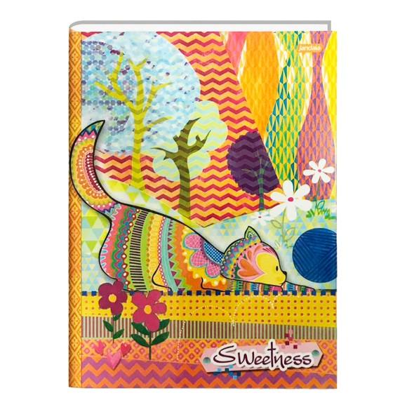 Caderno Brochura Universitário 48 Folhas Sweetness - Jandaia