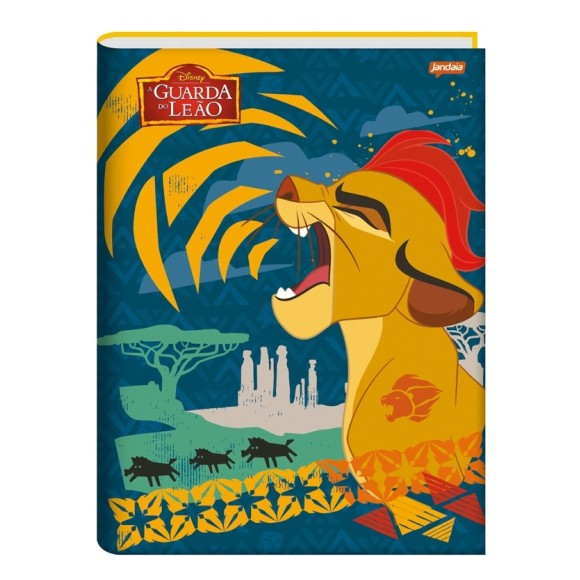 Caderno Brochura 1/4 96 Folhas A Guarda do Leão - Jandaia