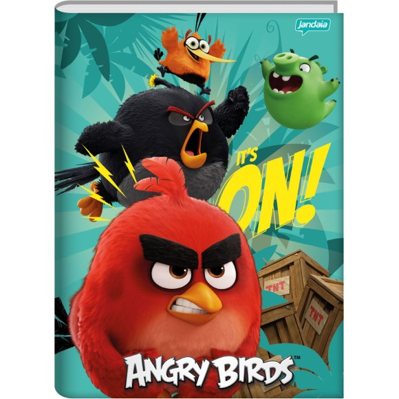 Caderno Brochura 1/4 96 Folhas Angry Birds - Jandaia