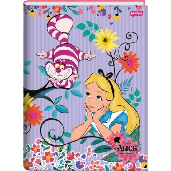 Caderno Brochura 1/4 96 Folhas Alice In Wonderland - Jandaia
