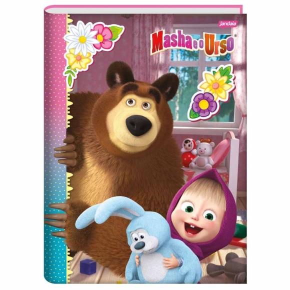 Caderno Brochura 1/4 48 Folhas Masha e o Urso - Jandaia