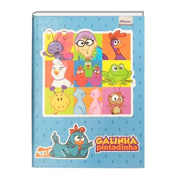 Caderno Brochura 1/4 48 Folhas Galinha Pintadinha - Foroni