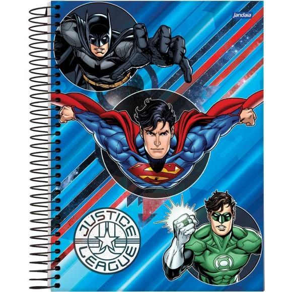 Caderno Espiral Universitário 1 Matéria 96 Folhas Justice League - Jandaia