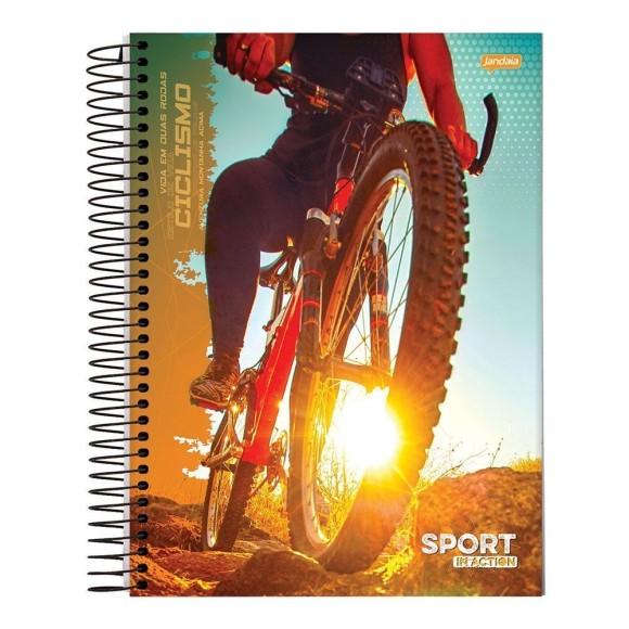 Caderno Espiral Universitário 10 Matérias 200 Folhas Sport In Action - Jandaia