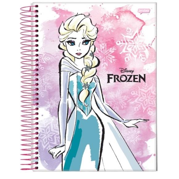 Caderno Espiral Universitário 10 Matérias 200 Folhas Frozen Disney - Jandaia