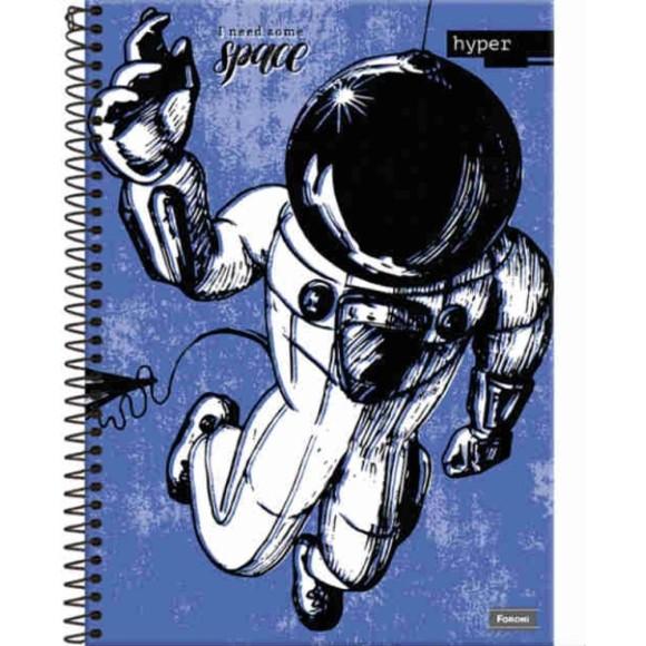 Caderno Espiral Universitário 10 Matérias 200 Folhas Hyper Space - Foroni