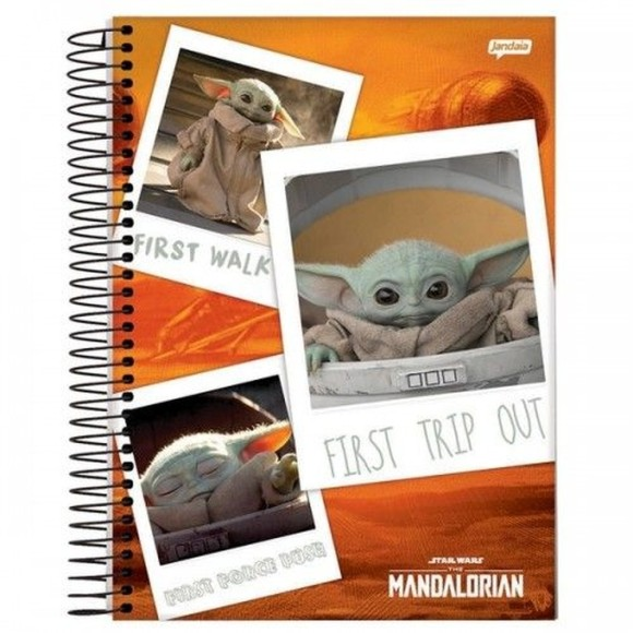 Caderno Espiral Universitário 10 Matérias 160 Folhas The Mandalorian - Jandaia