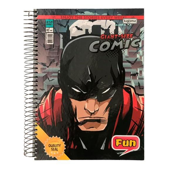 Caderno Espiral Universitário 10 Matérias 200 Folhas Fun Comics - Kajoma