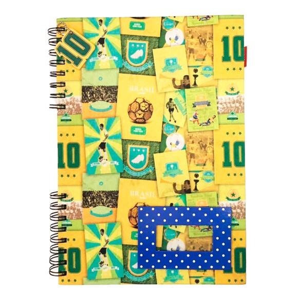 Caderno Espiral Universitário Texturizado 120 Folhas Seleção Brasileira - Carpe Diem