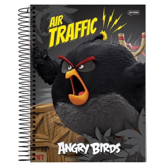 Caderno Espiral 1/4 96 Folhas Angry Birds - Jandaia