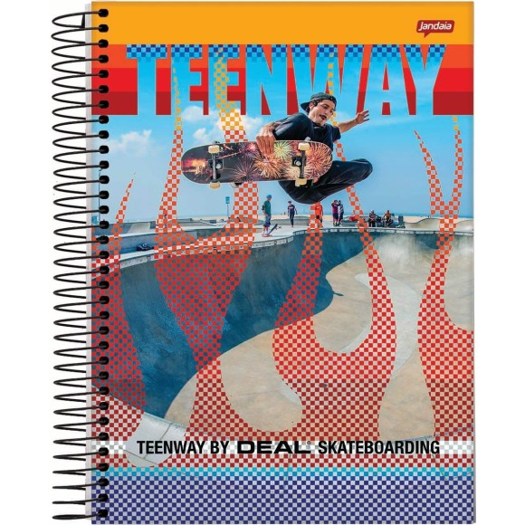 Caderno Espiral 1/4 96 Folhas TeenWay - Jandaia