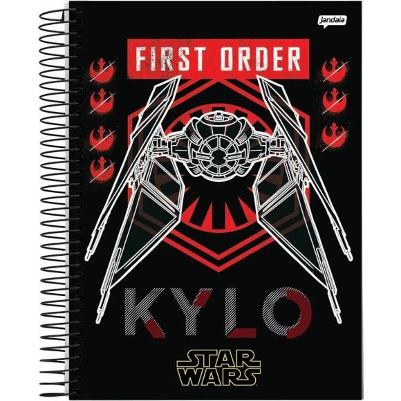 Caderno Espiral 1/4 96 Folhas Star Wars - Jandaia