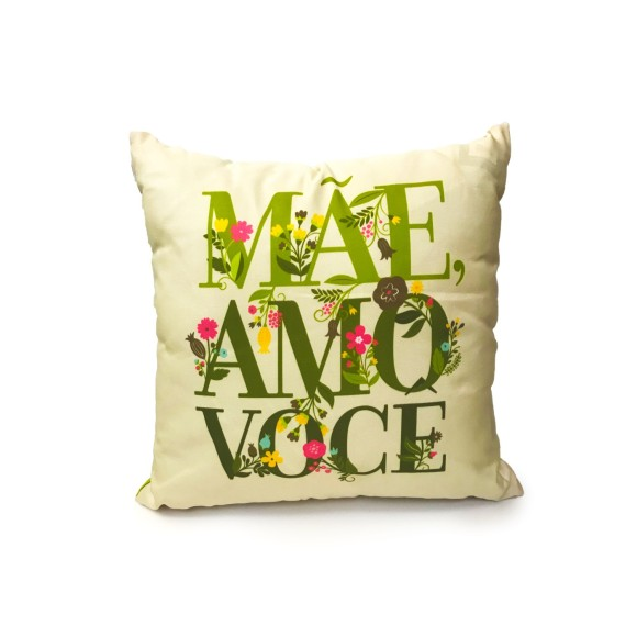 Almofada Quadrada Mãe Verde - Guthi
