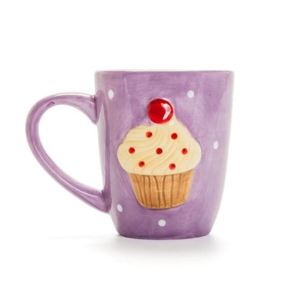 Caneca Cupcake Roxo - Ludi