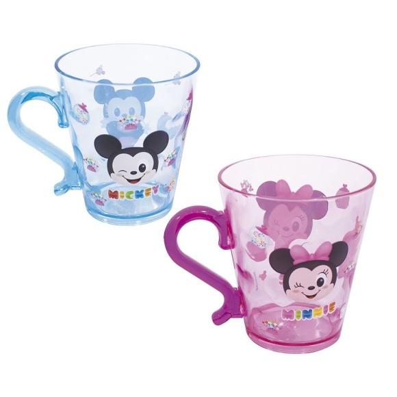 Jogo Com 2 Caneca de Acrílico Disney Mickey e Minnie - Taimes